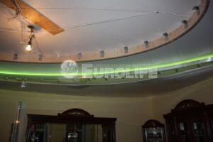 Процесс создания многоуровневого потолка - монтаж второй части потолка