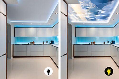 Световой потолок с технологией вижн