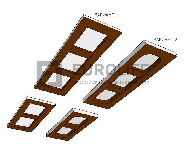 макет натяжного потолка в коридор