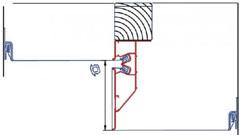 Профиль с указанием направления полотен и маскировочной лентой между ними. Также мы исполняем бесщелевой вариант перехода уровня.