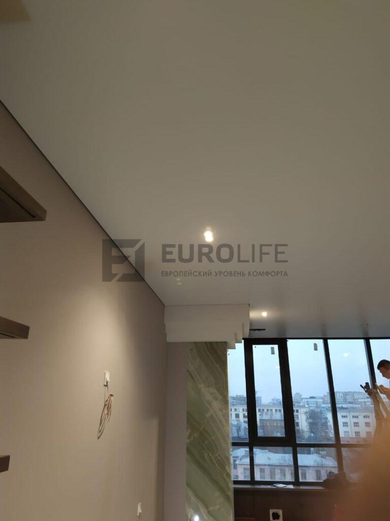 потолок в квартиру на теневом профиле