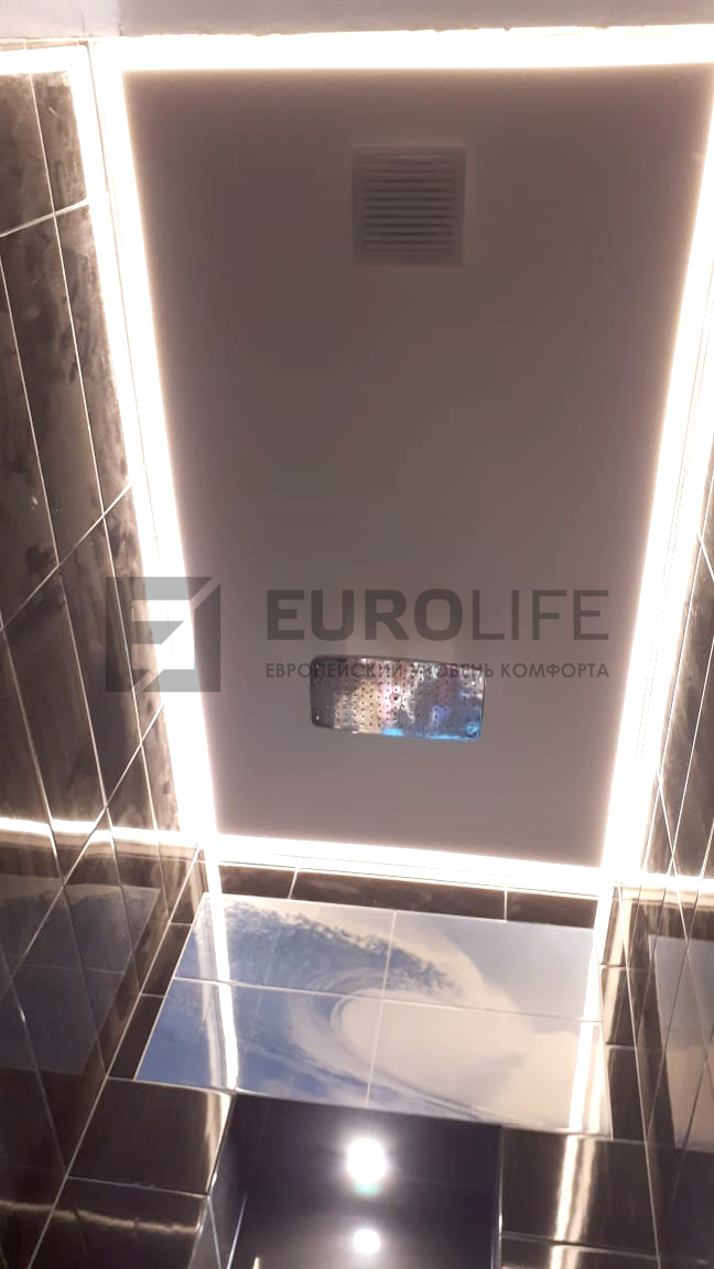 контурная подсветка потолка в санузле