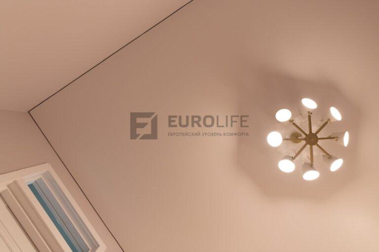 классический потолок без вставки по периметру