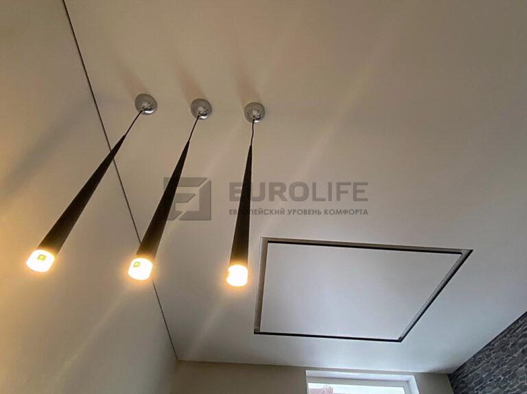 Тёплые подвесы на натяжном потолке