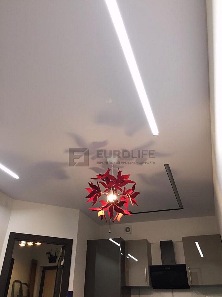 Световые линии SLOTT в тканевом потолке