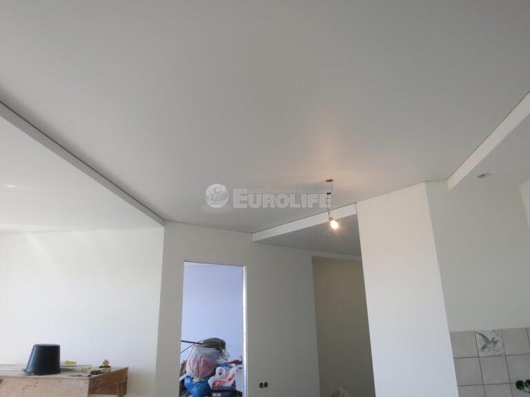 двухуровневый потолок ПВХ на металлоконструкции2