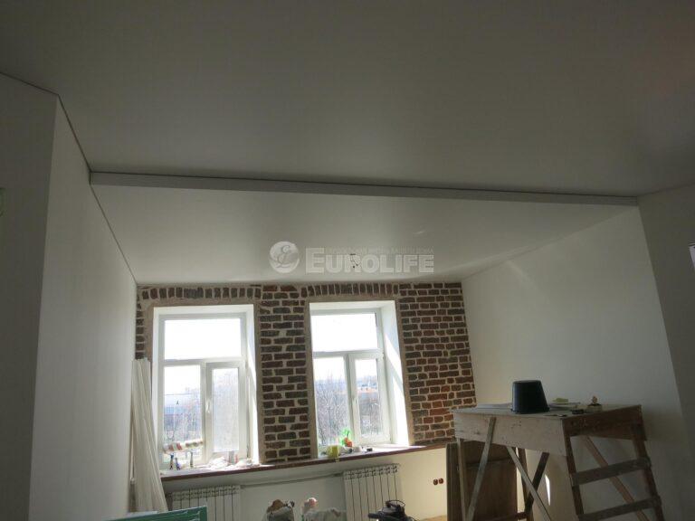 двухуровневый потолок ПВХ на металлоконструкции3