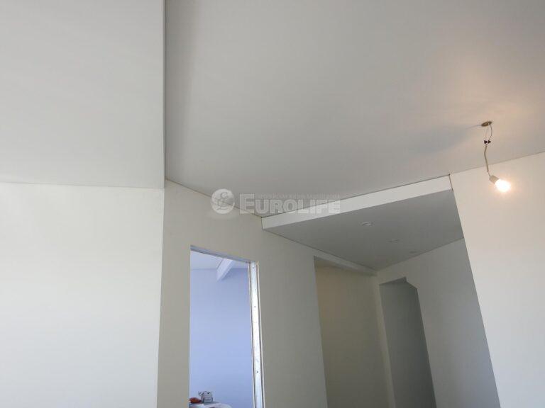 двухуровневый потолок ПВХ на металлоконструкции4