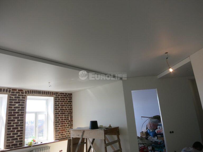 двухуровневый потолок ПВХ на металлоконструкции5