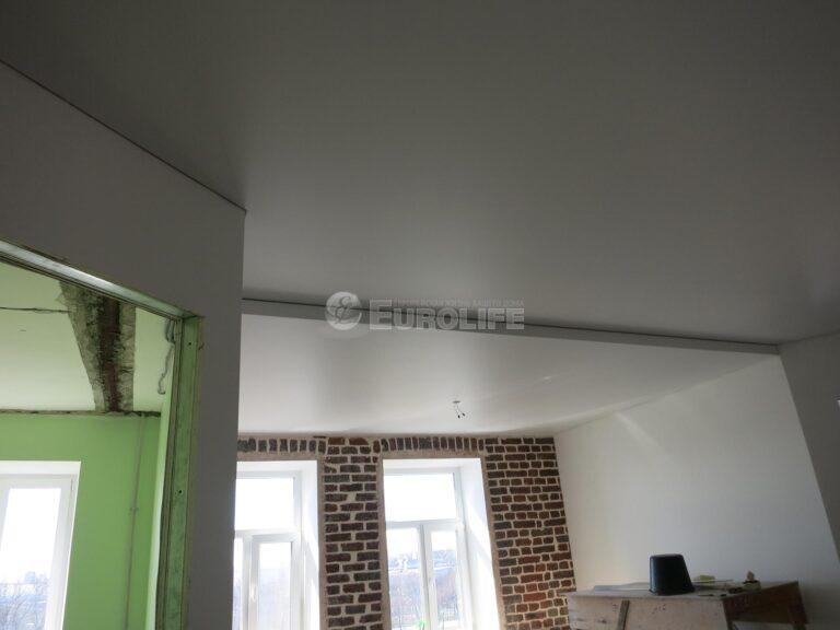 двухуровневый потолок ПВХ на металлоконструкции6