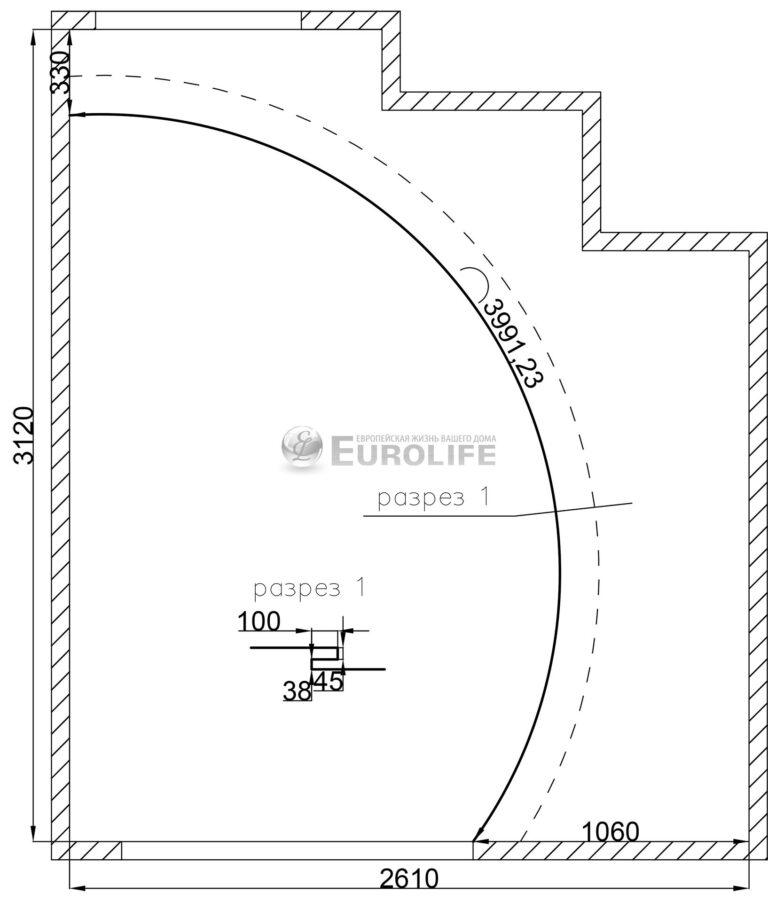 Двухуровневый потолок с закарнизным светом - схема