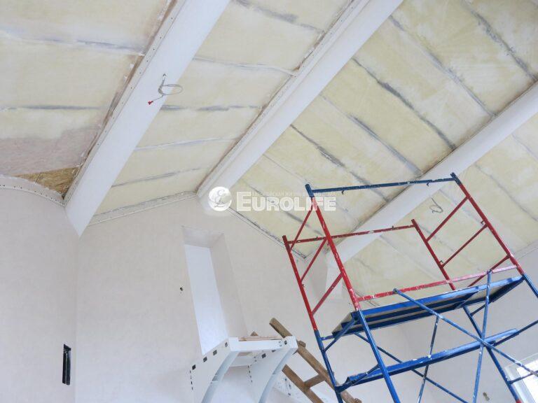 Мансардный потолок ПВХ с арт печатью из четырех частей1