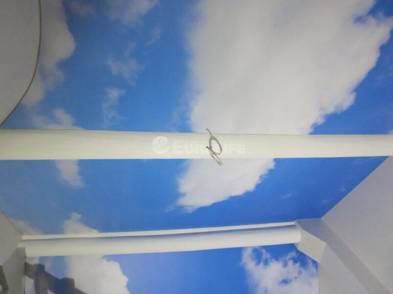 Мансардный потолок ПВХ с арт печатью из четырех частей4