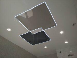 световые линии как альтернатива двухуровневому потолку