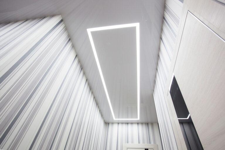 световые линии в форме прямоугольника
