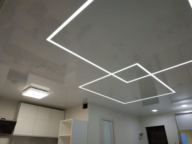 световые линии в квартире студии