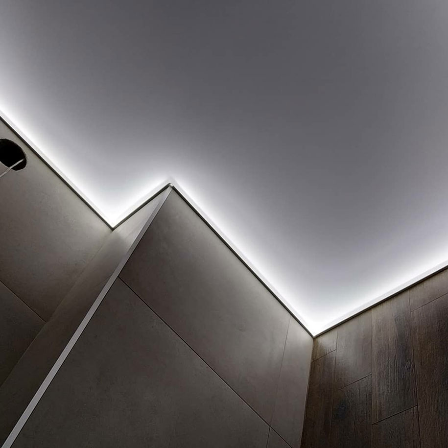 подсветка потолка изнутри
