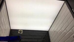 сплошная засветка потолка изнутри