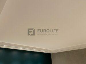 тканевый потолок clipso с выключенным эффектом звездного неба