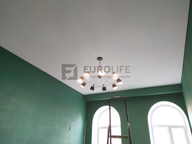 тканевый теневой потолок высотой 5 метров