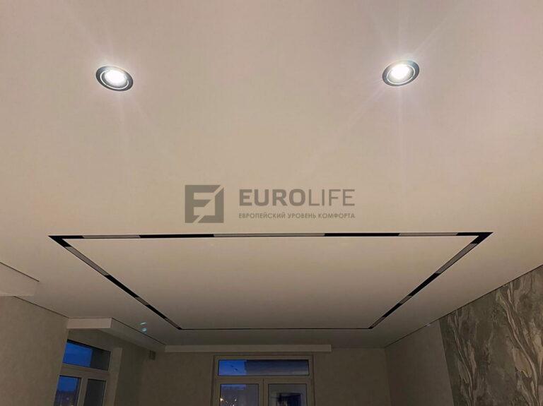 Как выглядят линейные светильники на потолке в выключенном виде