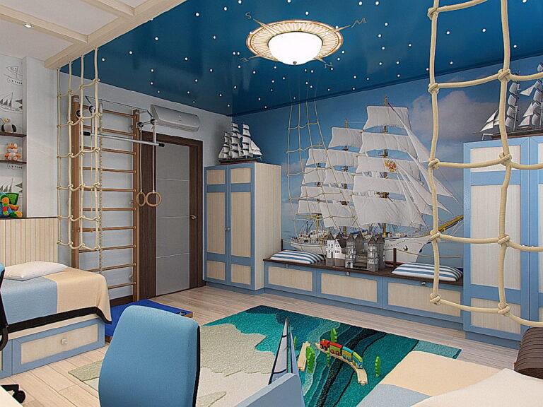цветной глянцевый потолок звездное небо в детскую